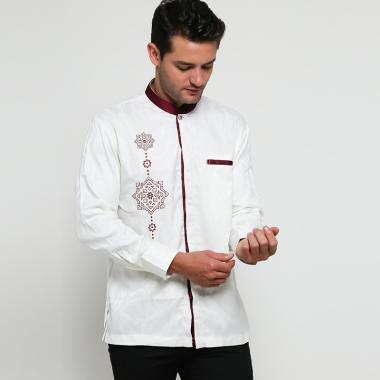 Batik Arjunaweda AW 9 Baju Koko Pria - Putih [97034016]