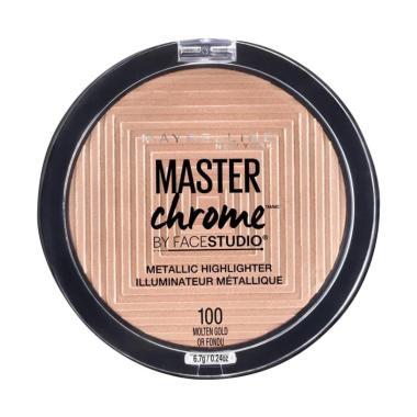 harga Maybelline Master Chrome Metallic Highlighter - 100 Molten Gold or Fondu Blibli.com
