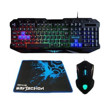 REXUS Keyboard Mouse + VR1 Warfaction Backlight Mousepad Gaming