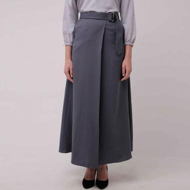 Zoya Fizzi Skirt Bawahan Muslim Wanita - Dark Grey