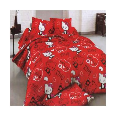 Rosewell Hello Kitty Microtex Set Sprei - Red