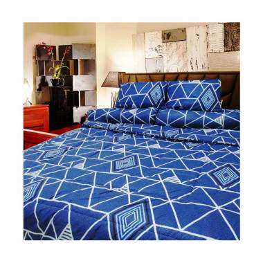 Berlian's MP065 Set Sprei - Blue [Extra King Size]