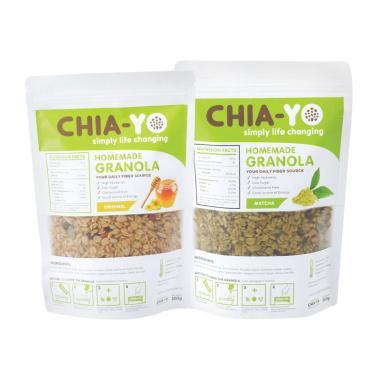 harga Chia-yo Paket Granola Original & Matcha Sereal [250 g] Blibli.com