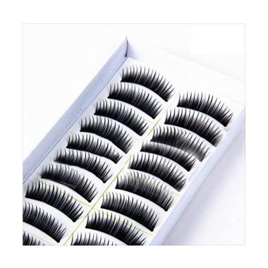 3016a9ccd0c Bluelans 117# Fake Eye Lashes Party Makeup Natural Long Cross Thick False  Eyelashes [10