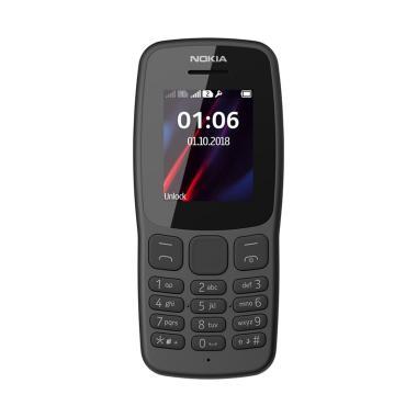 Nokia 106 Handphone - Dark Grey [Garansi Resmi]