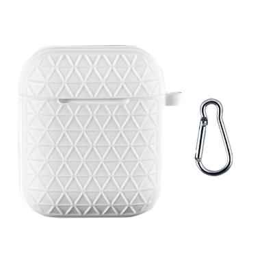 Bluelans Soft Silicone Grid Pattern Case Cover for Airpods
