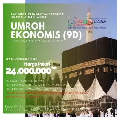 harga adeemtour Paket Umroh [Periode 7, 9 dan 17 November 2019] Blibli.com