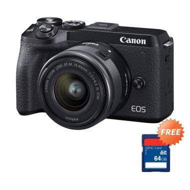 harga Canon EOS M6 Mark II Mirrorless Digital Camera [Pre Order/ Kit 15-45mm] + + Free Memory SDHC 64 GB Blibli.com