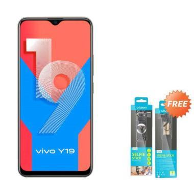 harga Vivo Y19 Smartphone [128 GB / 6 GB] + Free Tongsis Vivan Blibli.com