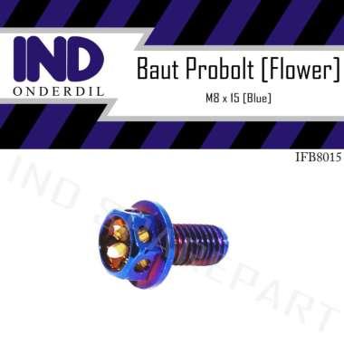harga IND Onderdil Baut Probolt M8x45-8x15 Flower Tutup Oli Gardan Motor Matic for Honda Beat / Vario / Scoopy/ Spacy [Drat 12]