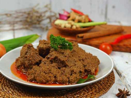 Restu Mande Rendang Sapi Basah [Original Taste HOT/ 125 g]