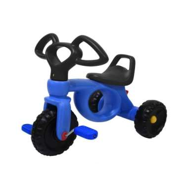 Labeille Ride On Tricycle KC - 102 Mainan Sepeda Kayuh Anak Roda Tiga - Blue Black