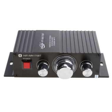 harga Car Mini Stereo HI-FI Bluetooth Aux Amplifier Speaker 2-Channel Black Blibli.com