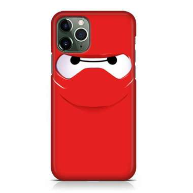 Indocustomcase Big Hero 6 Baymax 4 Custom Hard Case Cover For iPhone 12 Pro Max 002 Red Apple iPhone 12 Pro Max (6.7 inch)