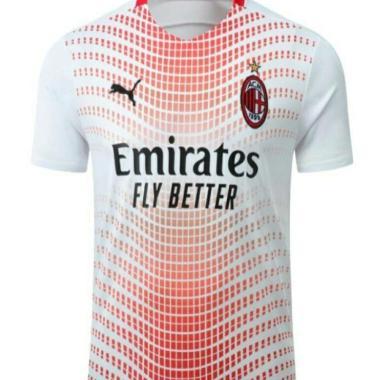 harga Jersey bola AC MILAN 3rd new 2020-2021 XL Putih Blibli.com