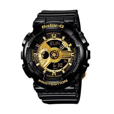 Casio Baby-G BA-110-1A Jam Tangan Wanita - Black Gold