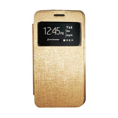 Gea Flip Cover Casing for Oppo Neo 7 A33T - Gold