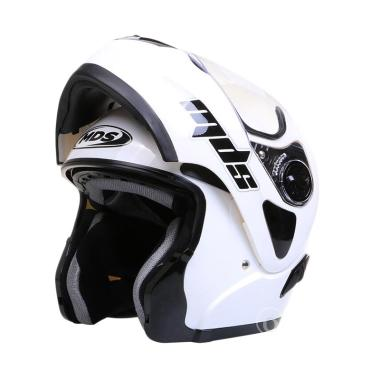 MDS Pro Rider Helm Full Face - Solid White