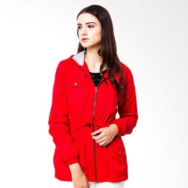 Evio Coconut Tree Women 1 Parka Jacket - Merah