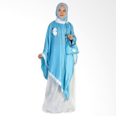 Makin Ayu Cantik Mukena - Light Blue White