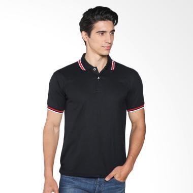 VM Polos Pendek Kaos Polo Shirt - Hitam