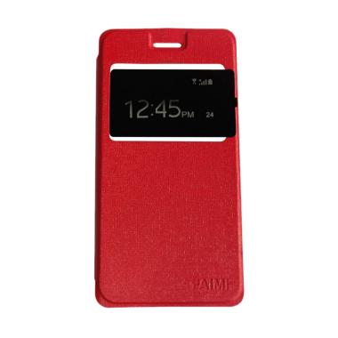 Aimi Flip Cover Casing for Vivo Y15 - Merah