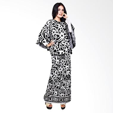 Java Seven Laura JRI 677 Long Dress - Black White