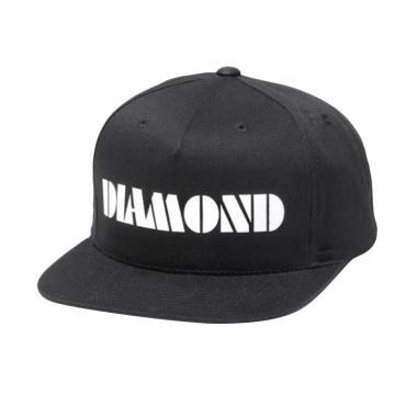 RLUCK8888 Snapback Diamond Topi - Hitam