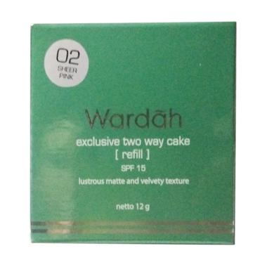 Refill Wardah Two Way Cake - Sheerpink