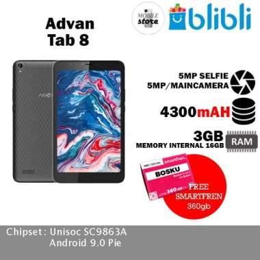 harga Advan Tab 8002 BLACK [8 Inch/ 3GB/ 16GB] - Bonus Bundling Black Blibli.com