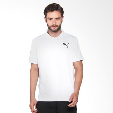 Puma Active Pique Polo Kaos Olahraga Pria - White 838390 22