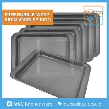 Loyang Kue Anti Lengket / Master Pastry Cookie Pan Mini 25x18cm (6 pc) Abu-abu