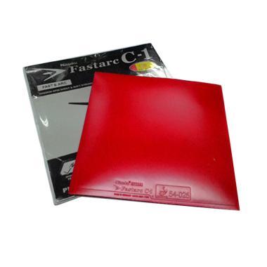Nittaku Fastarc C1 Rubber Bat Pingpong Tenis Meja - Red