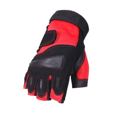 OEM Kiva Multi Sport Half Finger Sarung Tangan - Black Red