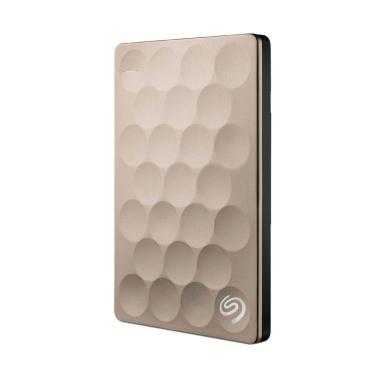 Seagate Backup Plus Ultra Thin Slim Hard Disk Eksternal - Gold [2 TB]