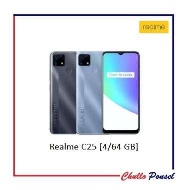 Realme C25 Smartphone [4/64 GB] Garansi Resmi Realme Water Grey