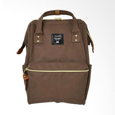 Anello Oxford Polyester Backpack - Brown