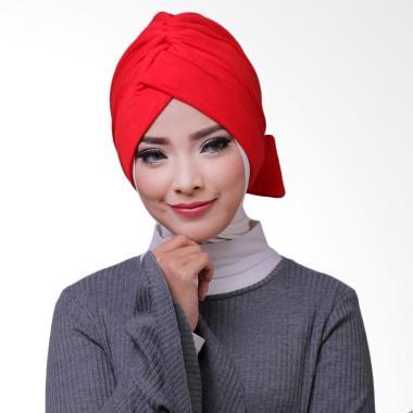 ATTIQAHIJAB Bowtie Turban Instant - Red