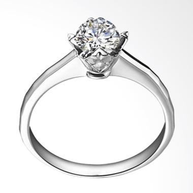 Tiaria Always Perhiasan Cincin Emas Dan Zircon White Gold 9k