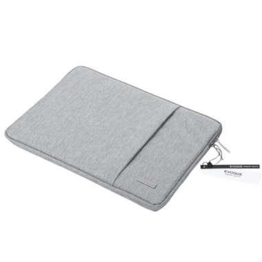 harga TAS LAPTOP EVQ03 WATERPROOF SLEEVE/ SOFTCASE MACBOOK 13.3,14.1 15.6 inchi Light Grey Blibli.com