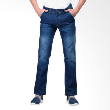 Sognoleather Long Pants Denim Celana Pria - Biru SLX 383