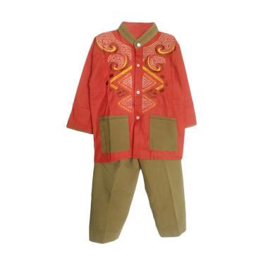 Rasya Setelan Baju Koko Anak - Brick [1-12 Thn]