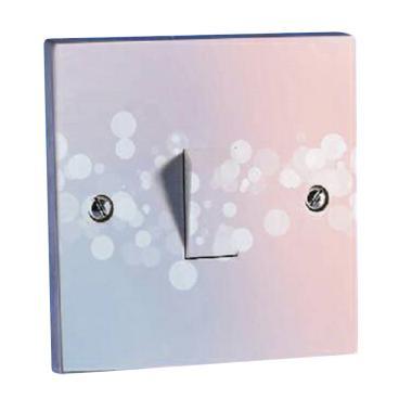 OEM Motif Abstrak Pink Bulat Saklar Lampu Sticker