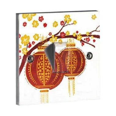 OEM Imlek Gong Xi Fa Cai Saklar Lampu Sticker