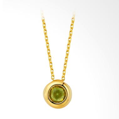 Tiaria Roundridot Perhiasan Kalung Emas Wanita [18K]