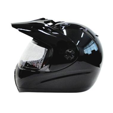 Zeus Supermoto ZS-2100 Helm Full Face - Pearl Black