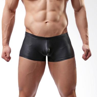 FLEX Compression Elastane Sythetic  ... aian Fitness Pria - Black