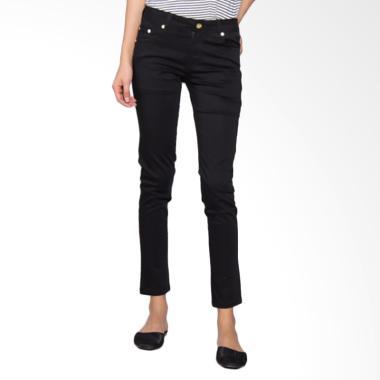 Bronco  2222 Slim Fit Chinos Celana Wanita - Black