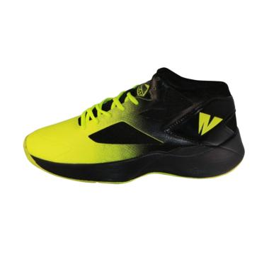 2BEAT Wolves Sepatu Basket Pria - Black Green 104002 707