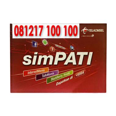 Telkomsel Simpati Nomor Cantik 081217 100 100 Kartu Perdana